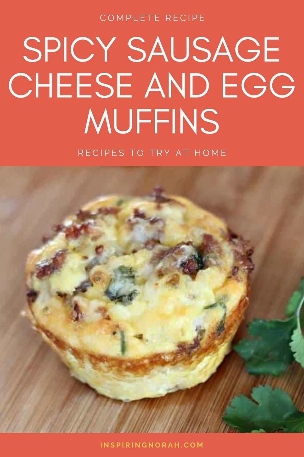 Spicy Sausage Cheese And Egg Muffins