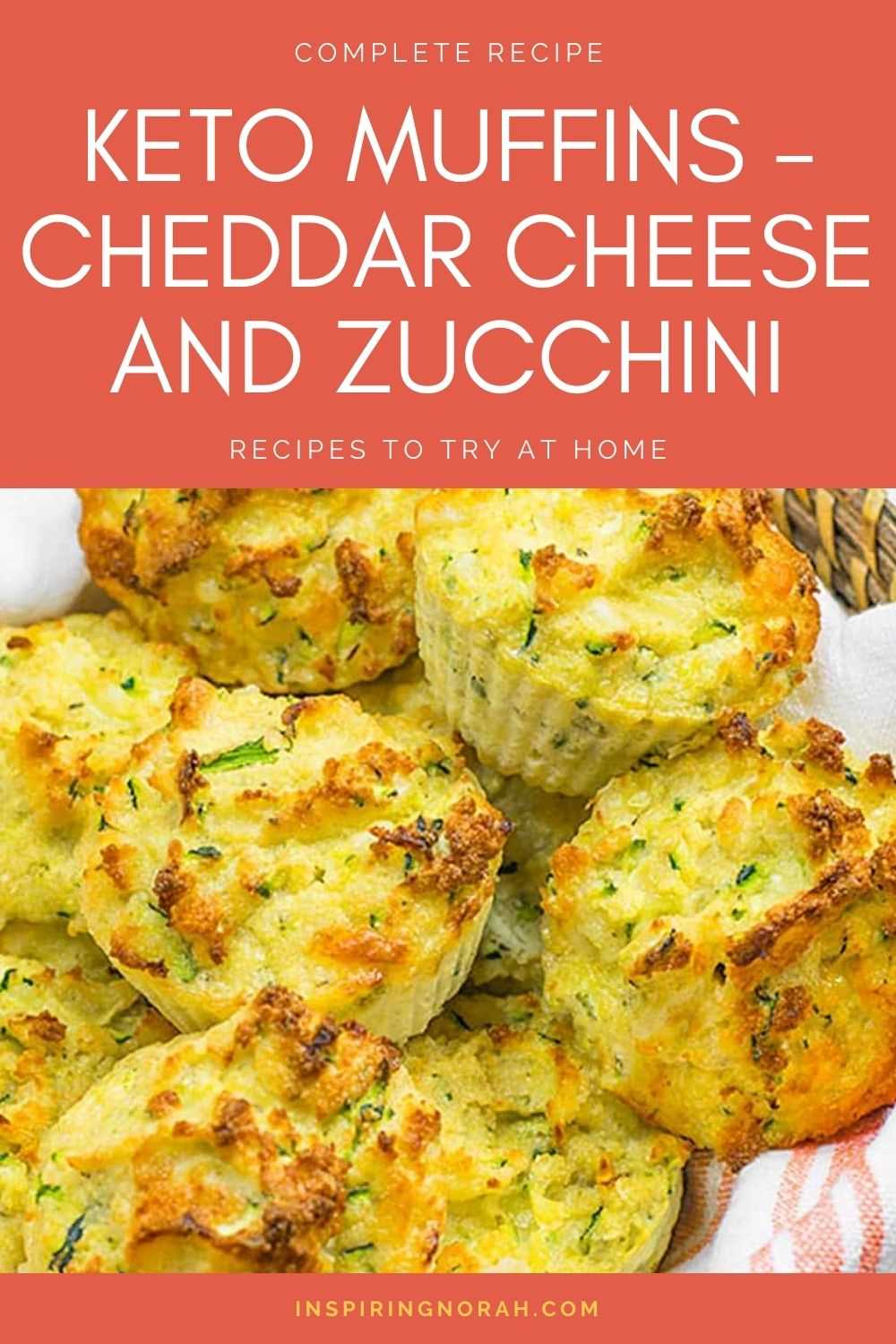 Keto Muffins - Cheddar Cheese And Zucchini